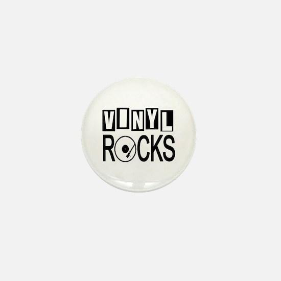 VINYL ROCKS Mini Button