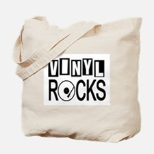 VINYL ROCKS Tote Bag