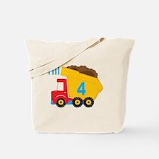 Dump Truck I'm 4 Tote Bag