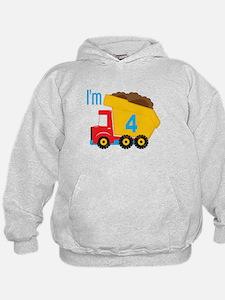 Dump Truck I'm 4 Hoodie