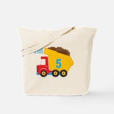 Dump Truck I'm 5 Tote Bag