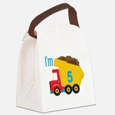 Dump Truck I'm 5 Lunch Bag