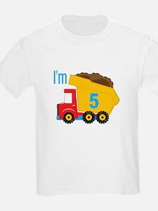 Dump Truck I'm 5 T-Shirt