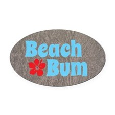 Beach Bum Oval Car Magnet