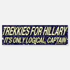 Trekkies for Hillary Bumper Bumper Bumper Sticker