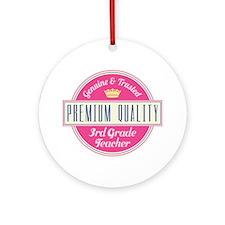 Genuine 3rd Grade Teacher Ornament (Round)