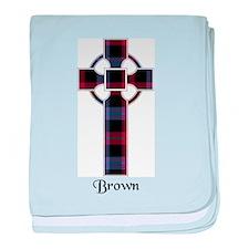 Cross - Brown baby blanket