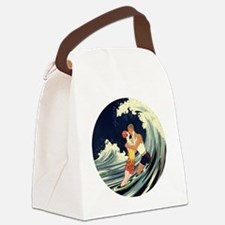 Vintage Art Deco Love Romantic Ki Canvas Lunch Bag