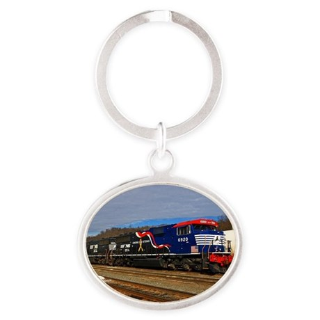 Honor Our Veterens Oval Keychain