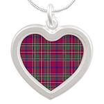 Tartan - Brown of Castledean Silver Heart Necklace