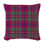 Tartan - Brown of Castledean Woven Throw Pillow