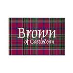 Tartan - Brown of Castledean Rectangle Magnet (100