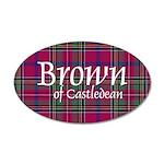 Tartan - Brown of Castledean 20x12 Oval Wall Decal