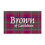 Tartan - Brown of Castledean 20x12 Wall Decal