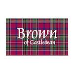 Tartan - Brown of Castledean 35x21 Wall Decal