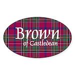 Tartan - Brown of Castledean Sticker (Oval 10 pk)