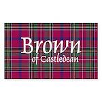 Tartan - Brown of Castledean Sticker (Rectangle)