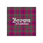 Tartan - Brown of Castledean Square Sticker 3