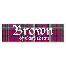 Tartan - Brown of Castledean Bumper Sticker