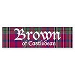 Tartan - Brown of Castledean Sticker (Bumper)
