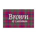 Tartan - Brown of Castledean Rectangle Car Magnet