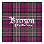 Tartan - Brown of Castledean Square Car Magnet 3