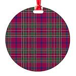 Tartan - Brown of Castledean Round Ornament
