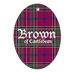 Tartan - Brown of Castledean Ornament (Oval)