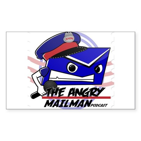 Angry Mailman 2500x2500 Sticker