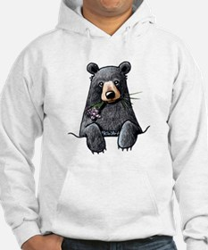 Pocket Black Bear Hoodie Sweatshirt