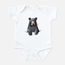 Pocket Black Bear Infant Bodysuit