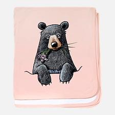 Pocket Black Bear baby blanket