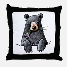 Pocket Black Bear Throw Pillow