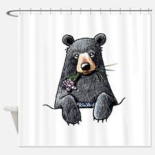 Pocket Black Bear Shower Curtain