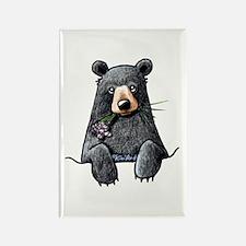 Pocket Black Bear Rectangle Magnet