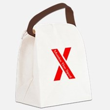 X Marks The Spot Canvas Lunch Bag