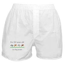 75 dog years birthday 1 Boxer Shorts
