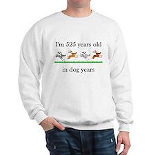 75 dog years birthday 1 Sweatshirt