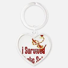 Catholic School Survivor Heart Keychain