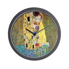 The Kiss by Gustav Klimt, Vintage Art N Wall Clock