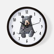 Pocket Black Bear Wall Clock
