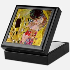 The Kiss detail, Gustav Klimt, Vintag Keepsake Box