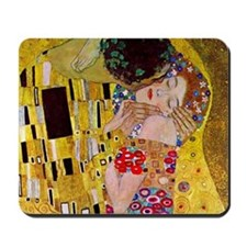 The Kiss detail, Gustav Klimt, Vintage A Mousepad
