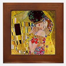 The Kiss detail, Gustav Klimt, Vintage Framed Tile