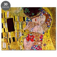 The Kiss detail, Gustav Klimt, Vintage Art Puzzle