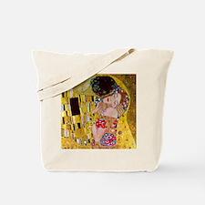 The Kiss detail, Gustav Klimt, Vintage Ar Tote Bag
