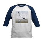 Polish Shortface Pigeon Kids Baseball Jersey