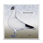 Polish Shortface Pigeon Tile Coaster