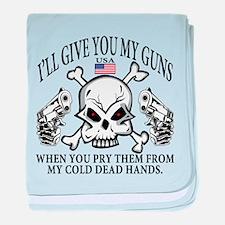 Gun Control baby blanket