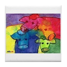 Wet Cows Tile Coaster